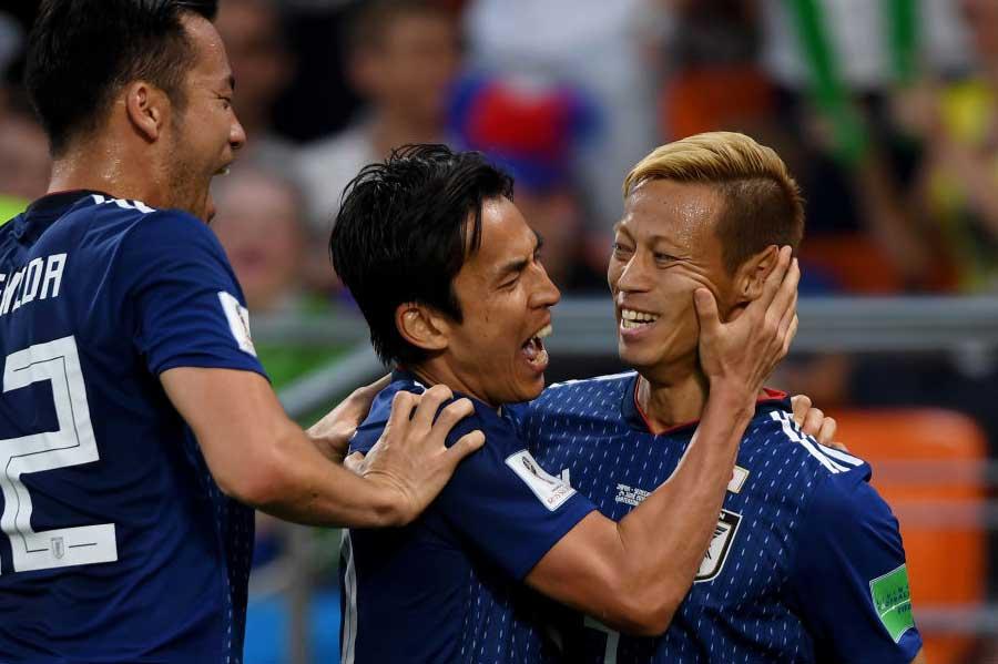 """長年、主力としてチームを牽引してきた本田と長谷部が去る影響は大きく、""""本田&長谷部ロス""""がファンの間でも拡大している【写真:Getty Images】"""