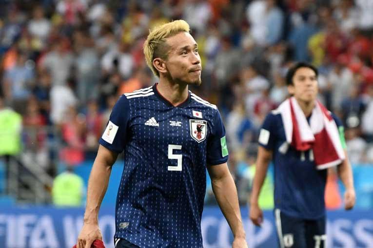 長友は、自分たちの戦いに誇りを持って日本に戻ることを誓った【写真:Getty Images】