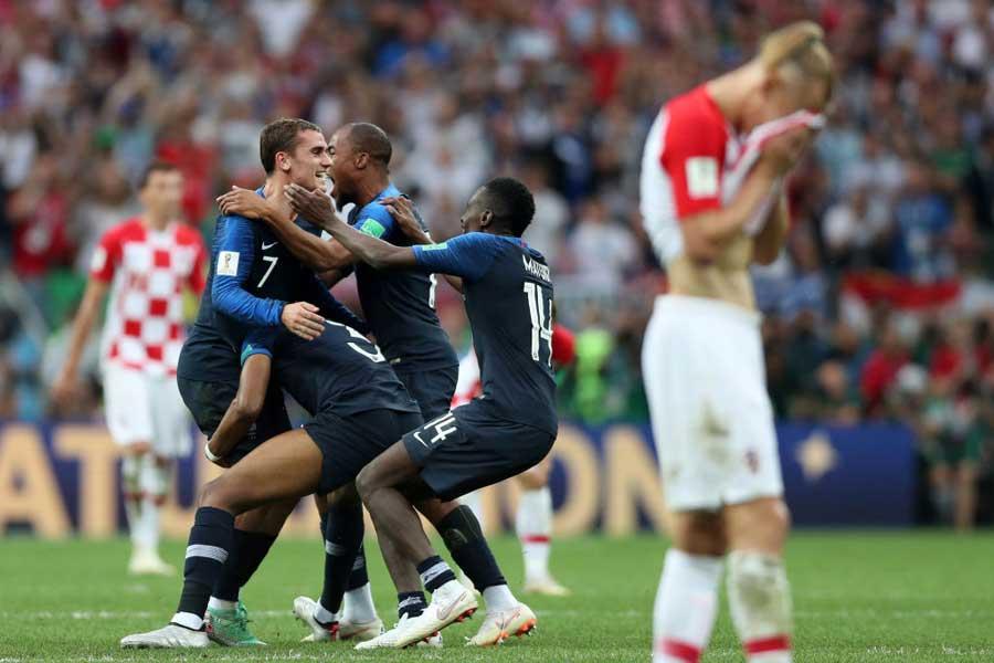 フランスが4-2とクロアチアに勝利し、20年ぶり2度目のW杯優勝を飾った【写真:Getty Images】