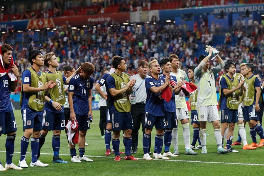 ベルギーを追い詰めた西野ジャパンに、現役Jリーガーから称賛や労いのメッセージが届いている【写真:AP】