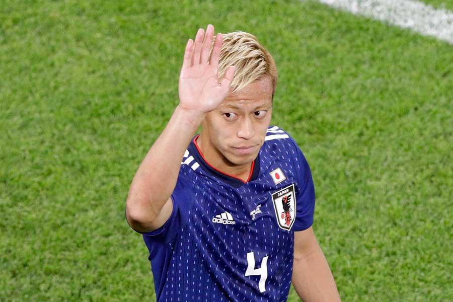 ロシアW杯で一区切りをつけた本田は、果たしてどんな決断を下すのか【写真:AP】