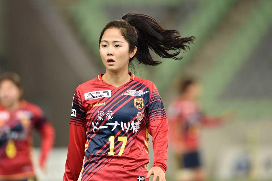 INAC神戸レオネッサの韓国代表MFイ・ミナ【写真:井上智博】