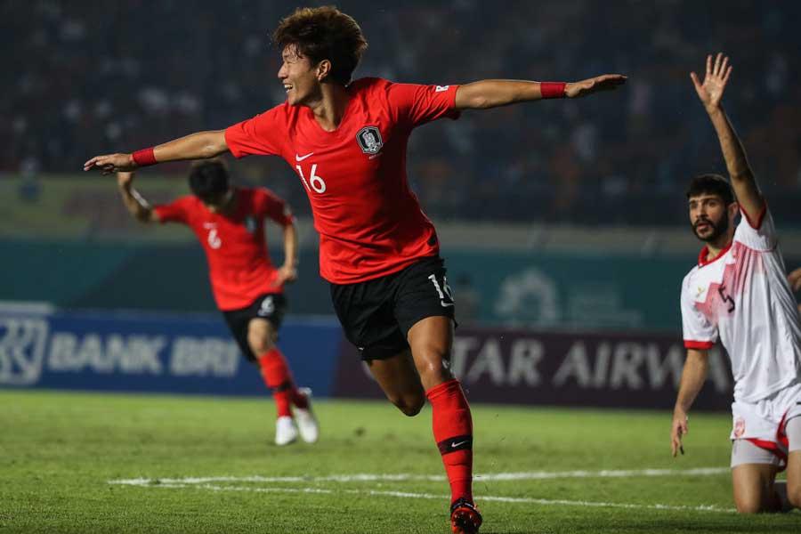 韓国代表のFWファン・ウィジョ【写真:Getty Images】