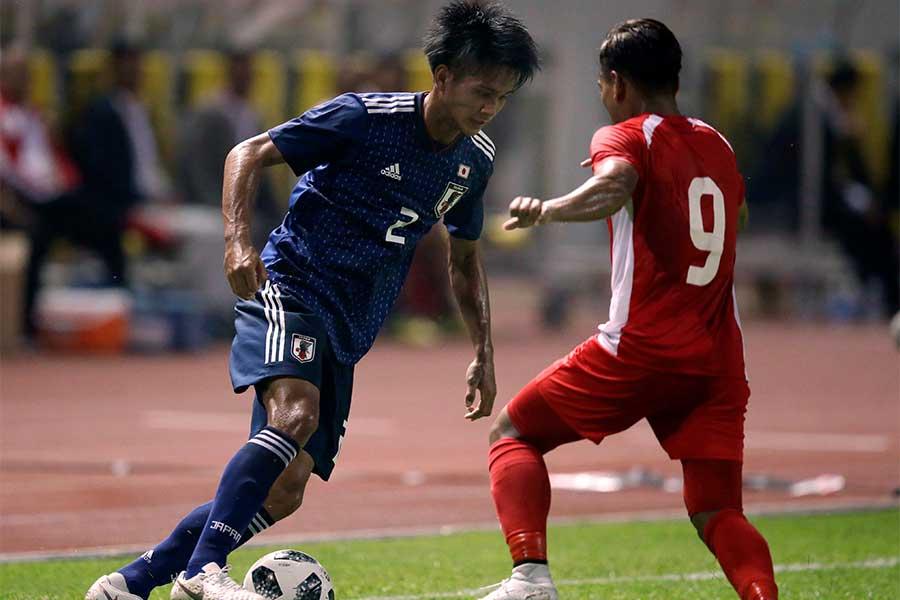 第1戦では格下ネパールに1-0と辛勝に終わった日本【写真:AP】