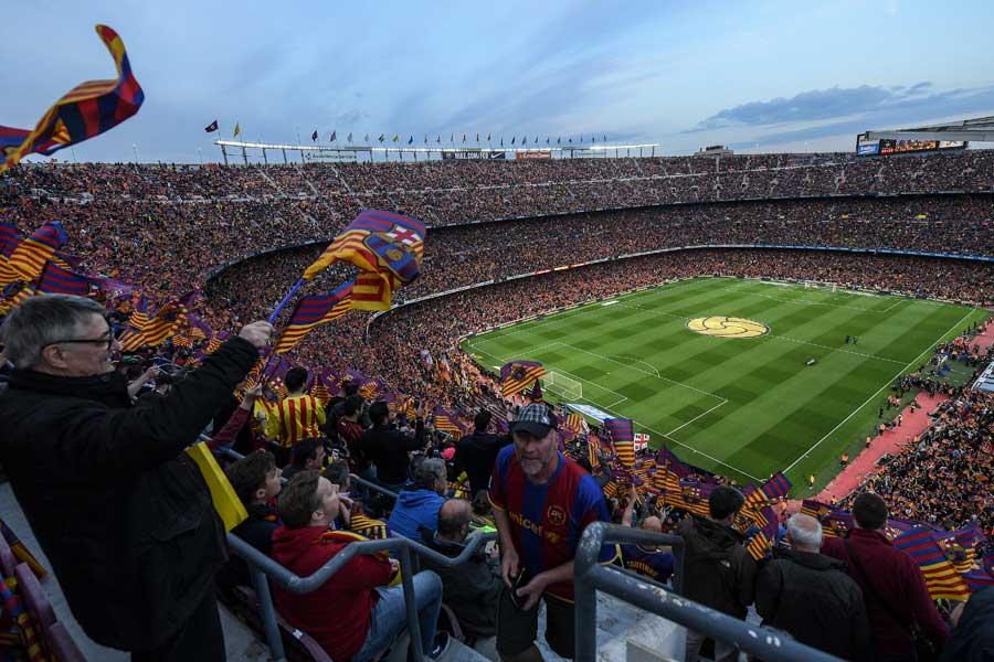 バルセロナの本拠地カンプ・ノウ【写真:Getty Images】