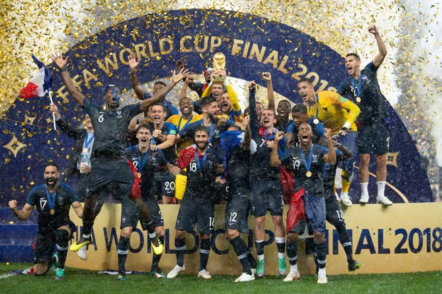 ロシア・ワールドカップで優勝したフランス代表【写真:Getty Images】