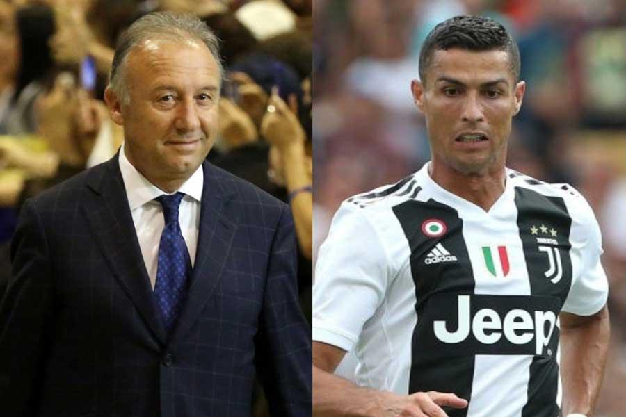 (左)UAE代表のザッケローニ監督と(右)ユベントスのC・ロナウド【写真:Getty Images】