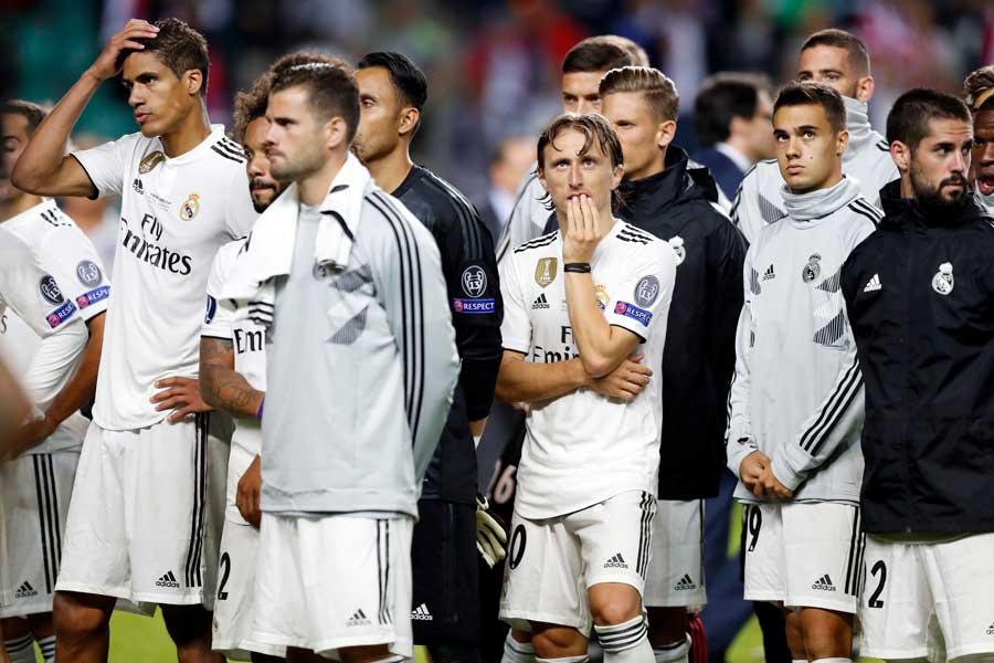 レアル・マドリードは、UEFAスーパーカップ3連覇を逃した【写真:AP】
