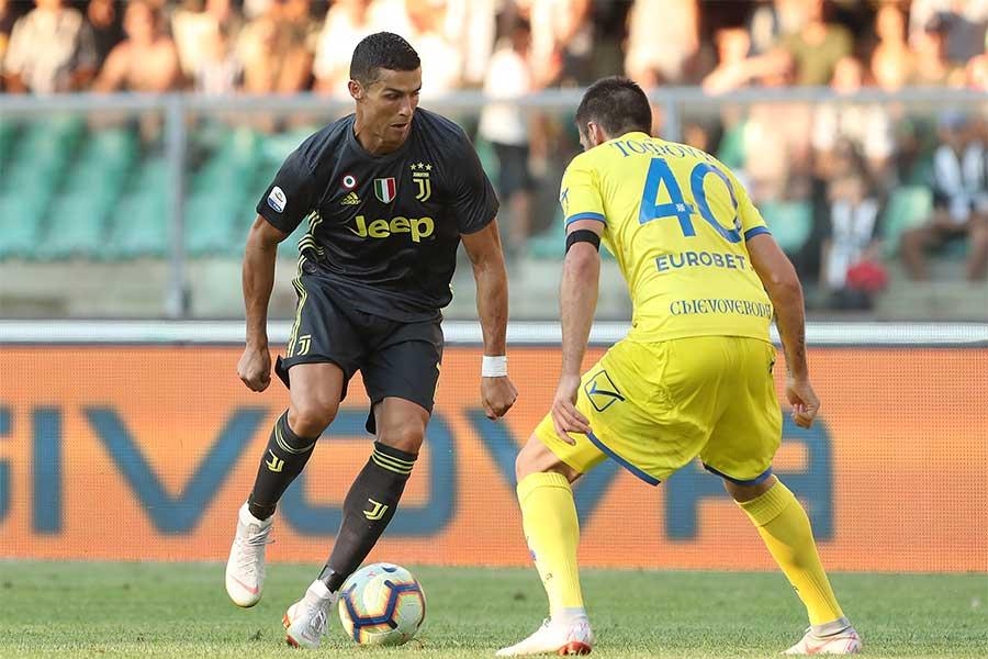 ロナウドはゴールこそなかったがイタリアメディアからは上々の評価を受けている【写真:Getty Images】