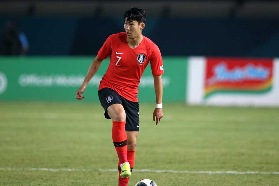 韓国代表FWソン・フンミンのSNSが炎上【写真:AP】
