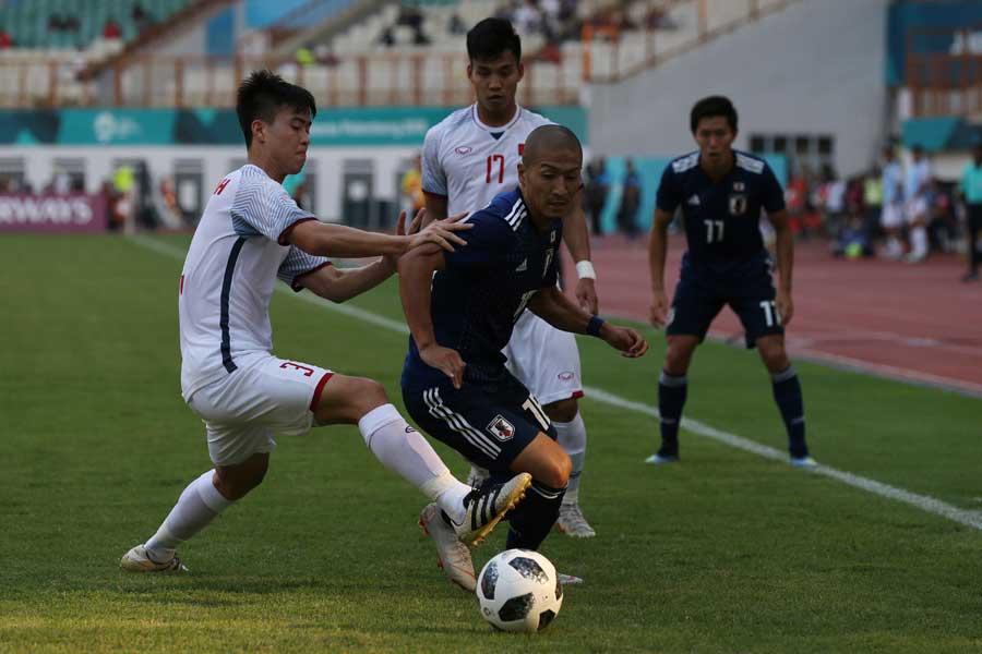 アジア大会UAE戦はスコアレスドローで後半へ【写真:AP】