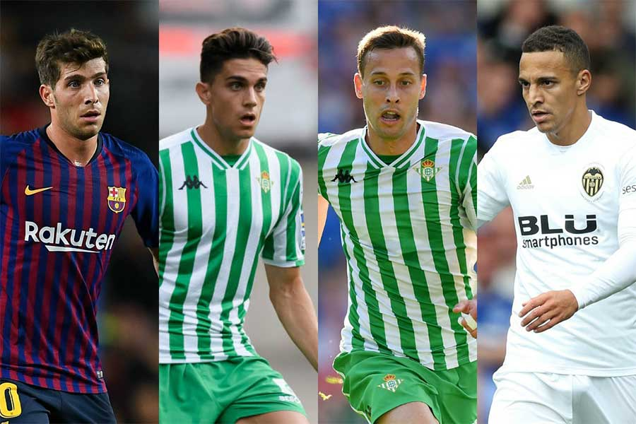(左から)S・ロベルト、バルトラ、カナレス、ロドリゴ【写真:Getty Images】