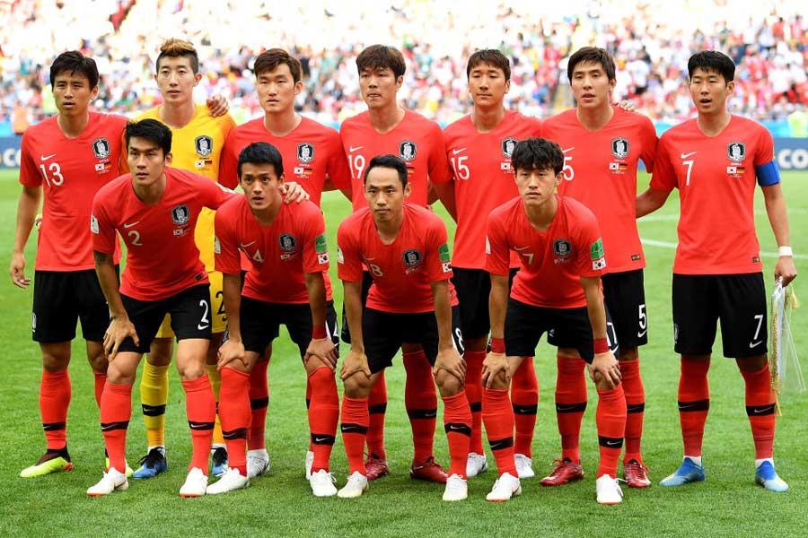 大韓サッカー協会が、9月に行われる国際親善試合の韓国代表24人を発表した(写真はW杯の対ドイツ戦)【写真:Getty Images】