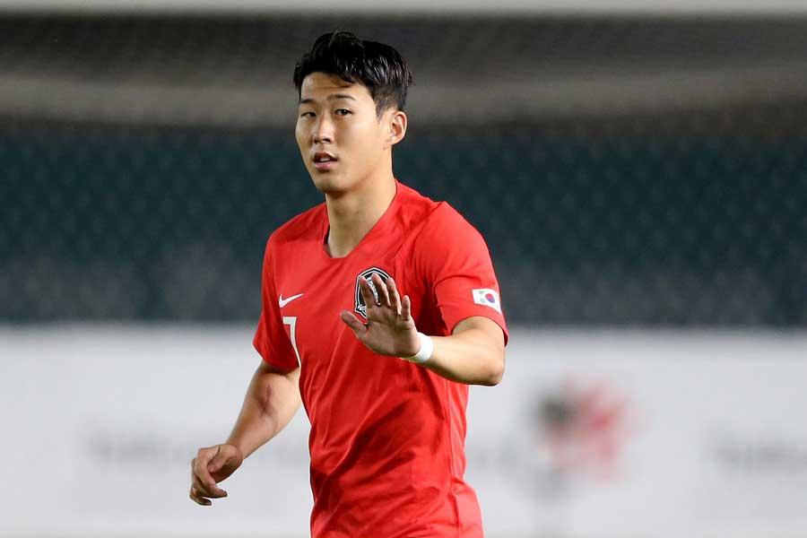 韓国代表のエースFWソン・フンミン【写真:AP】