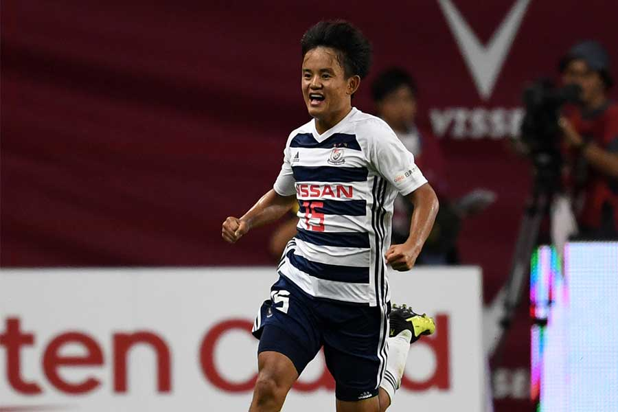 J1初ゴールを決めた横浜F・マリノスMF久保建英【写真:Getty Images】