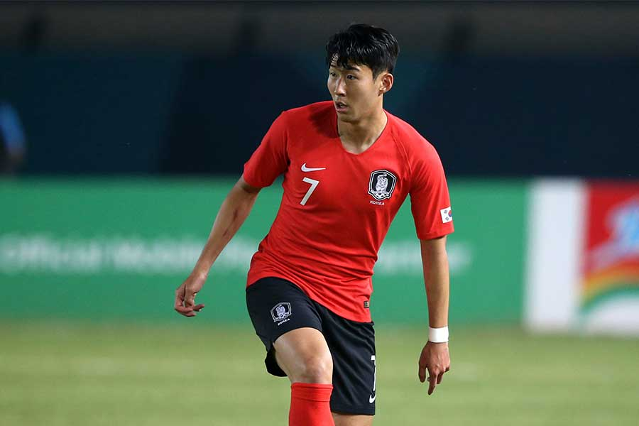 韓国代表FWソン・フンミン【写真:Getty Images】