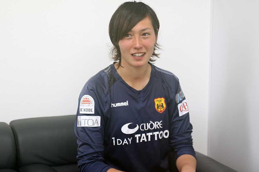 U-20日本女子代表の世界制覇に貢献したGKスタンボー華【写真:Football ZONE web】