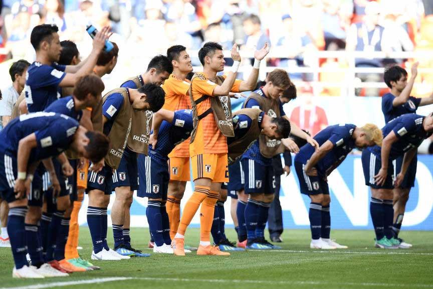 W杯で試合後にロッカールームを綺麗に片付けて会場を去り、日本代表は世界中から称賛を浴びた【写真:Getty Images】