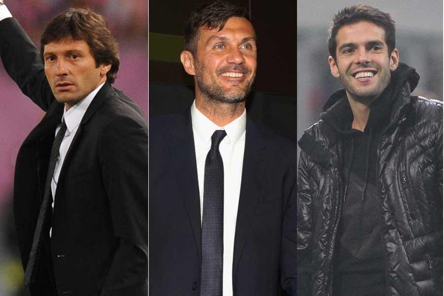 (左から)レオナルド氏、マルディーニ氏、カカ氏【写真:Getty Images】