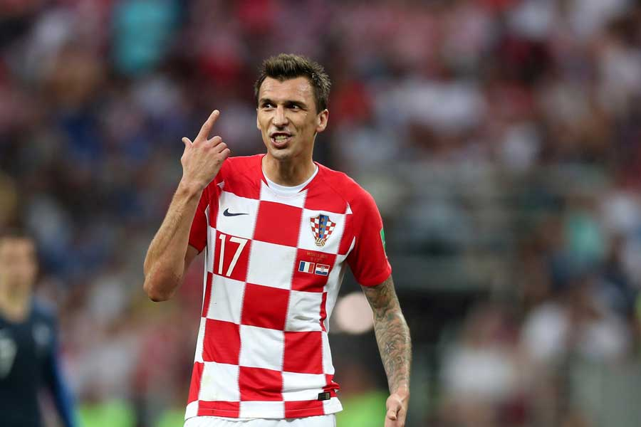 32歳でクロアチア代表引退を発表したFWマンジュキッチ【写真:Getty Images】