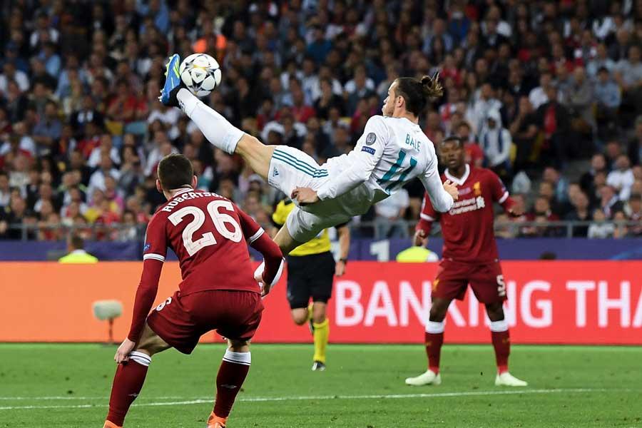 昨季UEFAチャンピオンズリーグ(CL)決勝のリバプール戦で決めたオーバーヘッド弾の舞台裏をベイルが語った【写真:Getty Images】