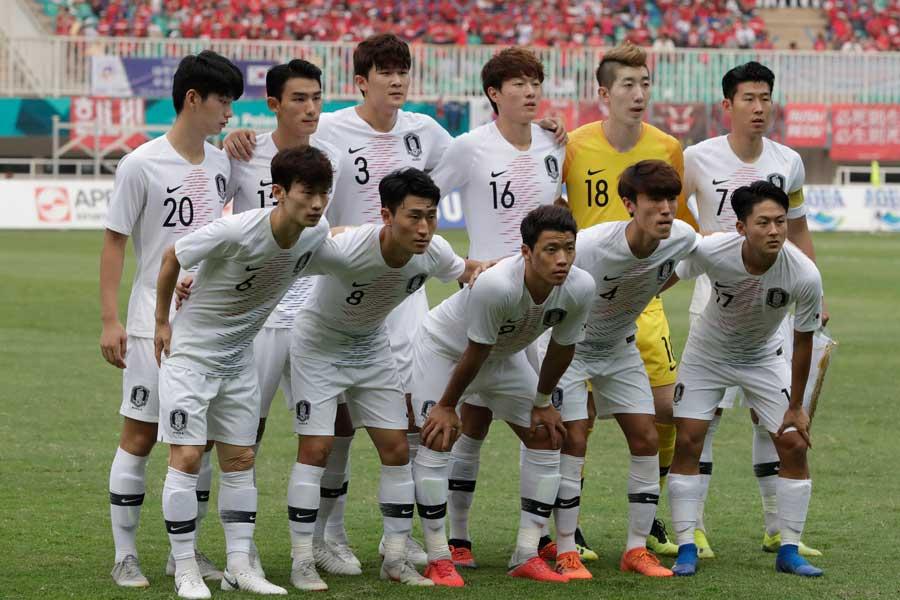 アジア大会決勝に挑む韓国代表のスタメンが発表【写真:AP】