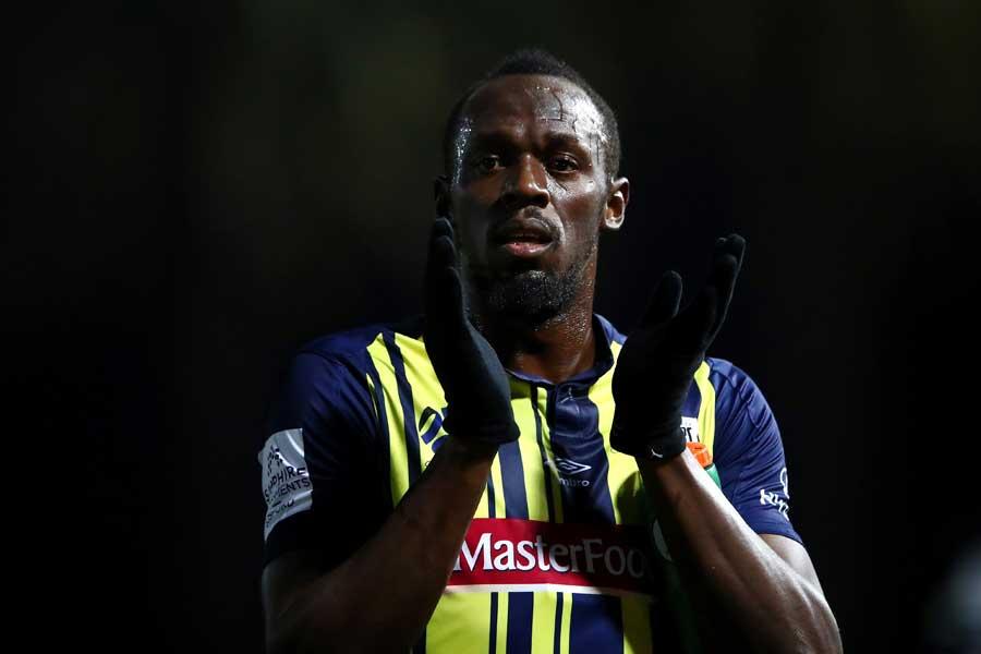 サッカー選手としてデビューしたウサイン・ボルト【写真:Getty Images】