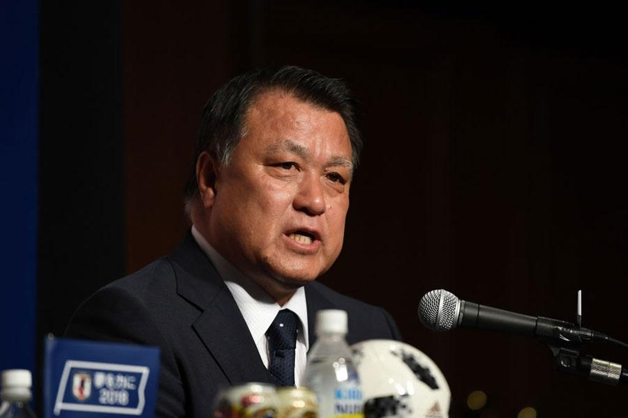 日本サッカー協会の田嶋会長【写真:Getty Images】