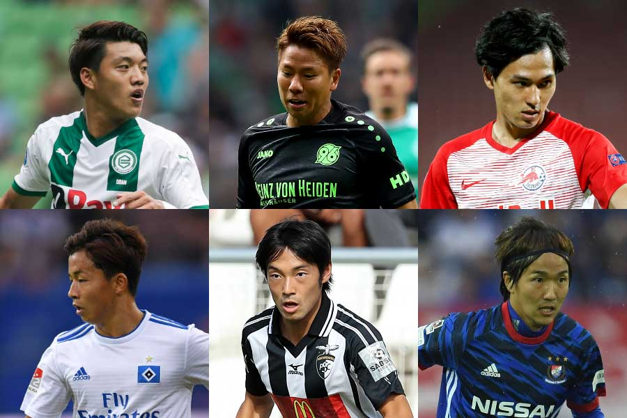 2枠に6人の候補者がひしめく日本代表の2列目【写真:Getty Images】
