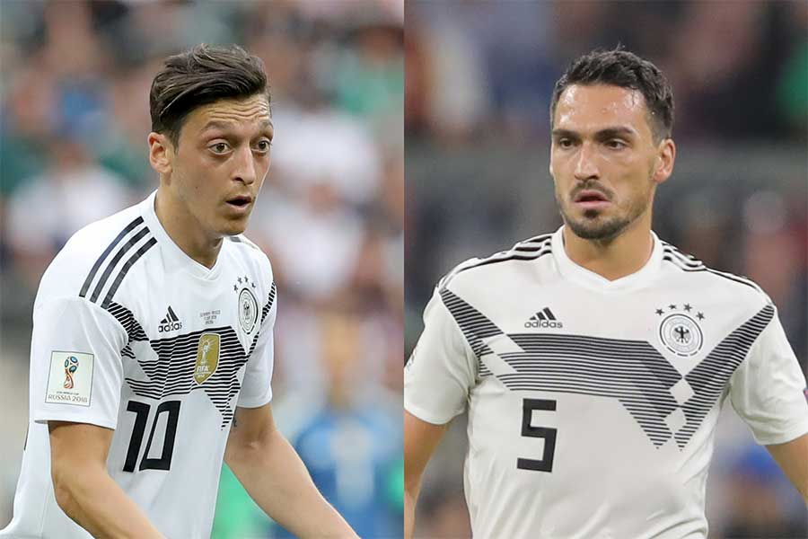 エジル(左)のドイツ代表引退について、フンメルス(右)が初めてコメントした【写真:Getty Images】