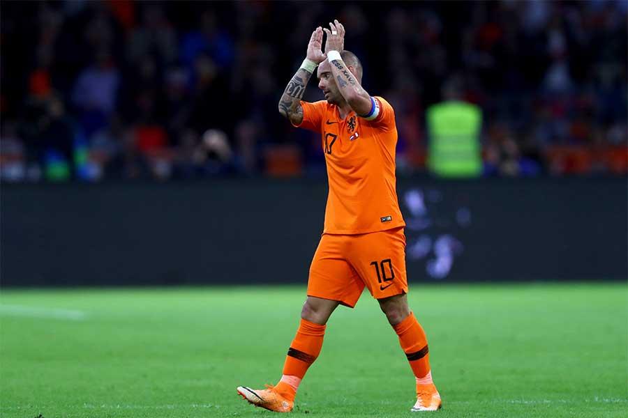 オランダ代表ラストマッチを終えたMFスナイデル【写真:Getty Images】