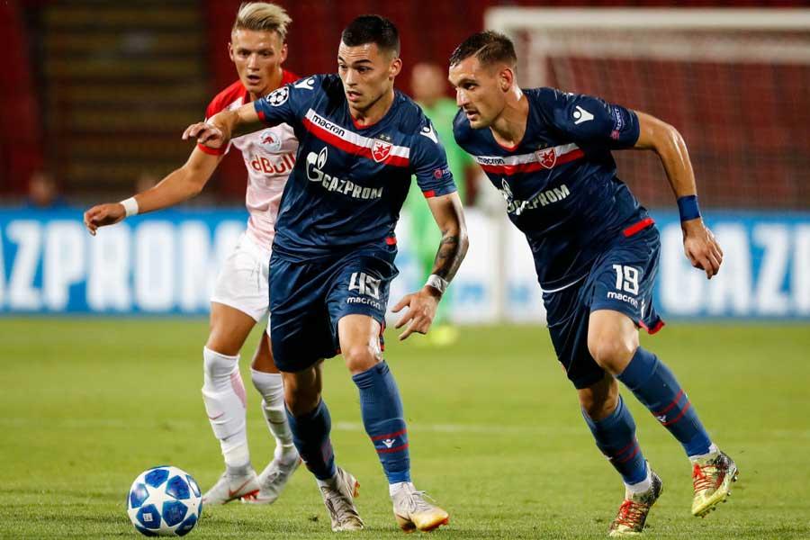 レッドスター・ベオグラードは、ファンの暴動により欧州サッカー連盟から制裁を受けた【写真:Getty Images】