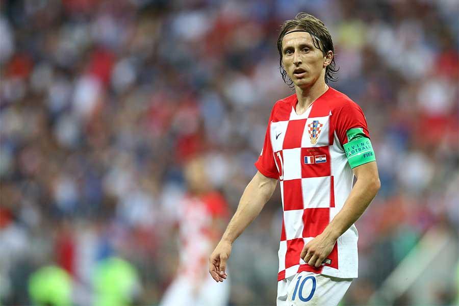 ロシアW杯では、クロアチア代表の準優勝に大きく貢献したモドリッチ【写真:Getty Images】