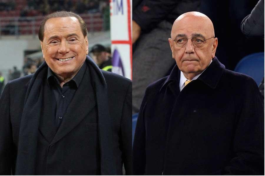 ベルルスコーニ氏(左)とガリアーニ氏(右)のコンビがサッカー界に復帰するようだ【写真:Getty Images】