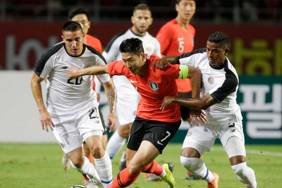 7日に開催された国際親善試合で、コスタリカ代表に2-0で韓国代表が勝利【写真:AP】