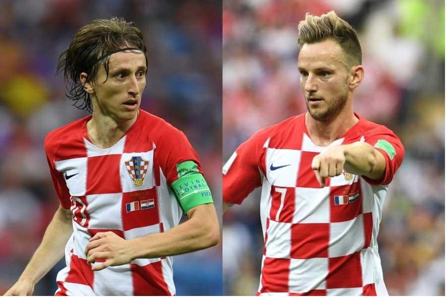 長年代表で名コンビを組むラキティッチ(右)は、FIFA最優秀選手にモドリッチ(左)を推薦している【写真:Getty Images】