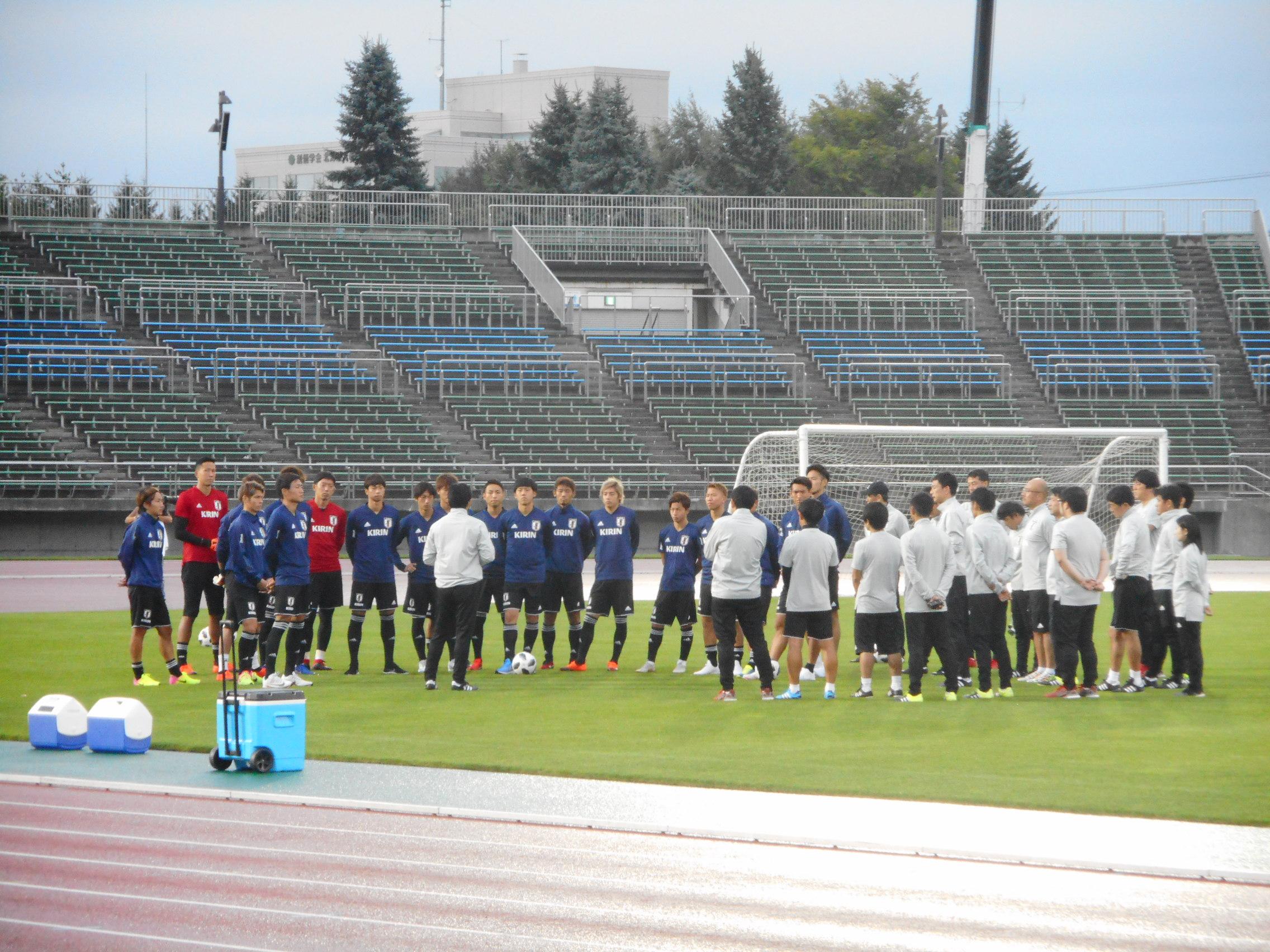 3日から札幌市内で練習していた日本代表にも避難命令【写真:Football ZONE web】