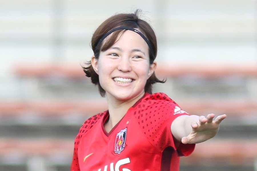 今夏、浦和Lから新潟Lに移籍したMF北川ひかる【写真:Football ZONE web】