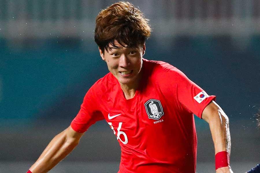 韓国代表FWファン・ウィジョ【写真:AP】