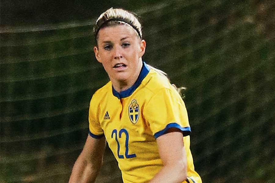 スウェーデン女子代表のMFオリヴィア・ヒョウグ【写真:Getty Images】
