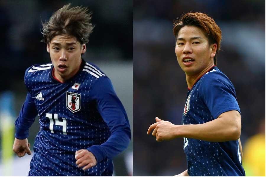 新生日本代表の2大スピードスター(左から伊東、浅野)【写真:Getty Images】