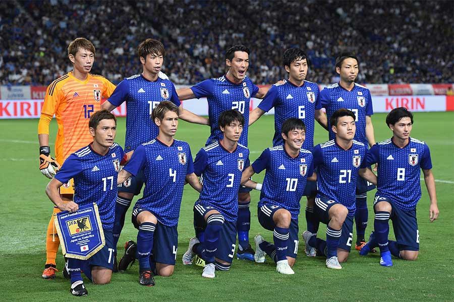 パナマ代表に挑む日本代表のスタメンが発表された(写真は9月のコスタリカ戦)【写真:Getty Images】