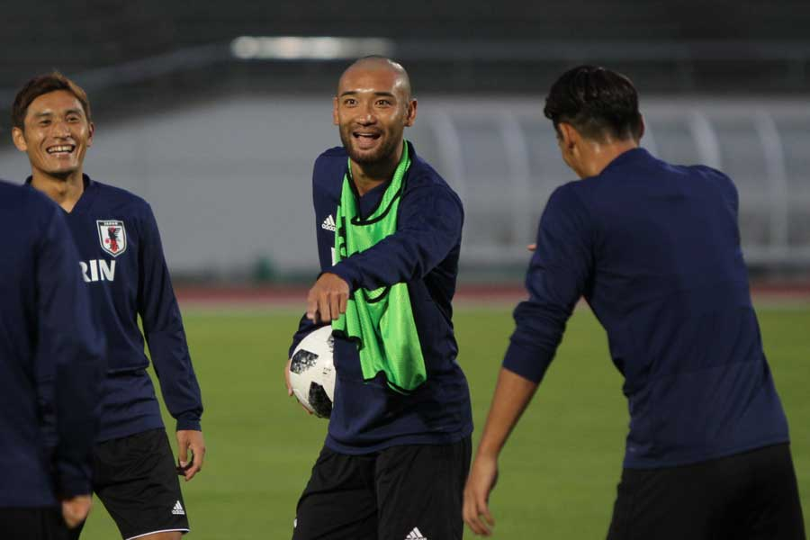 10カ月ぶりに日本代表に復帰したFW川又堅碁【写真:Football ZONE web】