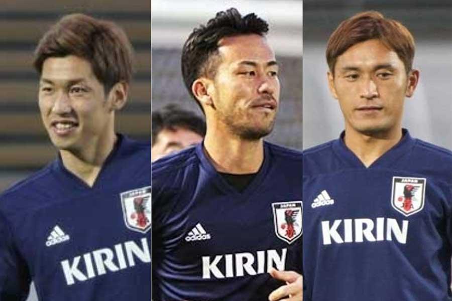 (左から)大迫、吉田、青山らが現在の代表について言及した【写真:Football ZONE web】