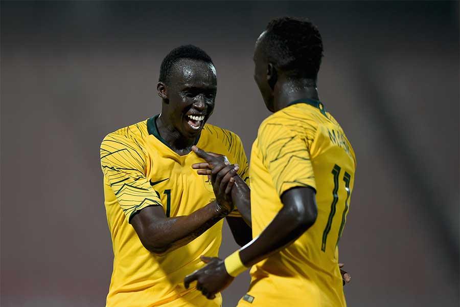 南スーダンにルーツを持つメイビルとデンが代表デビューを飾った【写真:Getty Images】