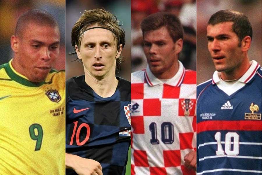 (左から)ロナウド、モドリッチ、ボバン、ジダン【写真:Getty Images】