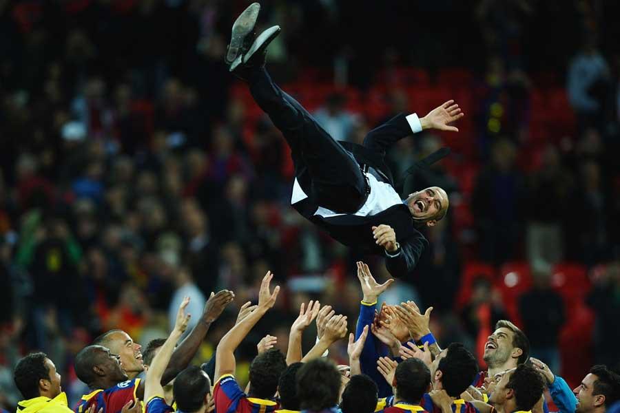 バルセロナ時代をはじめ数々のタイトルを獲得してきたグアルディオラ監督【写真:Getty Images】