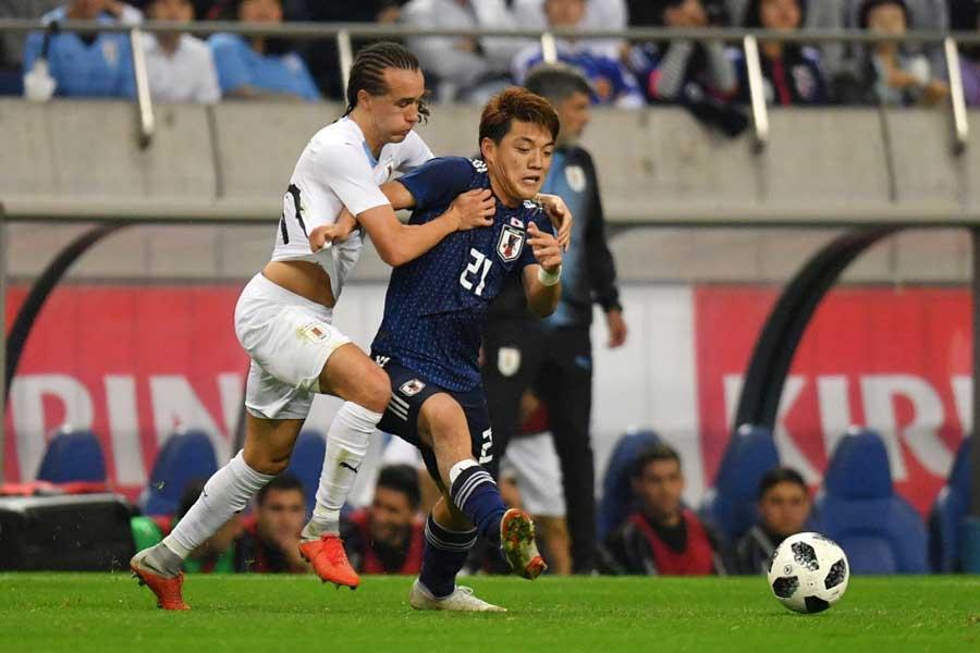 堂安律は、16日のウルグアイ戦でA代表初ゴールを決めてチームの4-3の勝利に貢献した【写真:Getty Images】