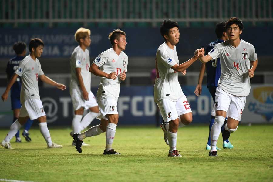 U-19アジア選手権第2戦、日本代表はタイ相手に3-0で後半へ【写真:ⒸAFC】