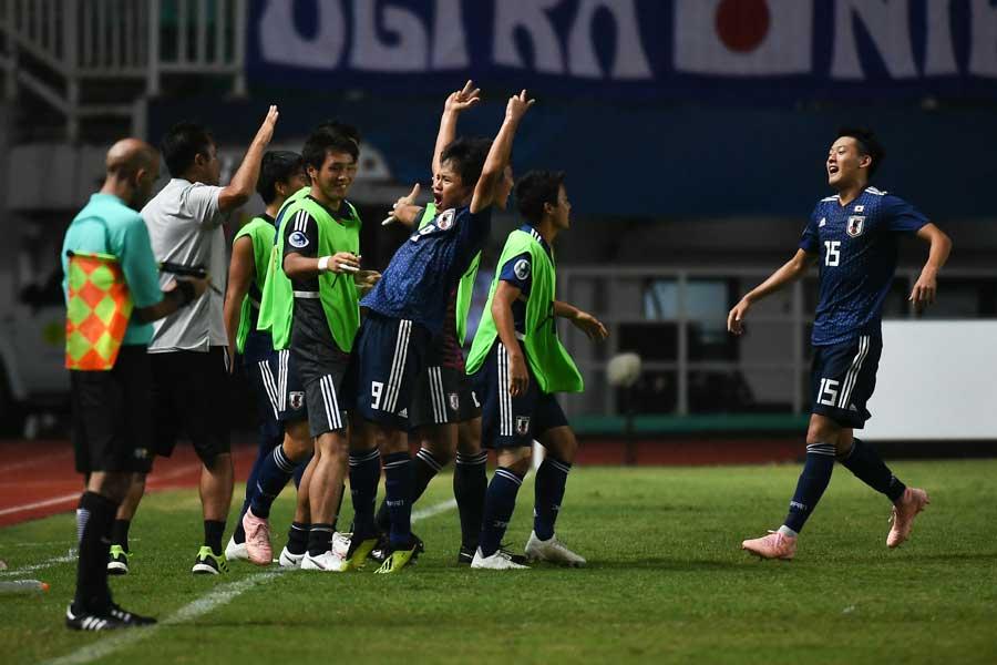 U-19アジア選手権、日本代表は5-2で勝利した【写真:ⒸAFC】